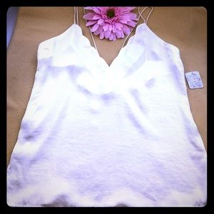 Free People Intimately Ivory Scalloped Cami Tank